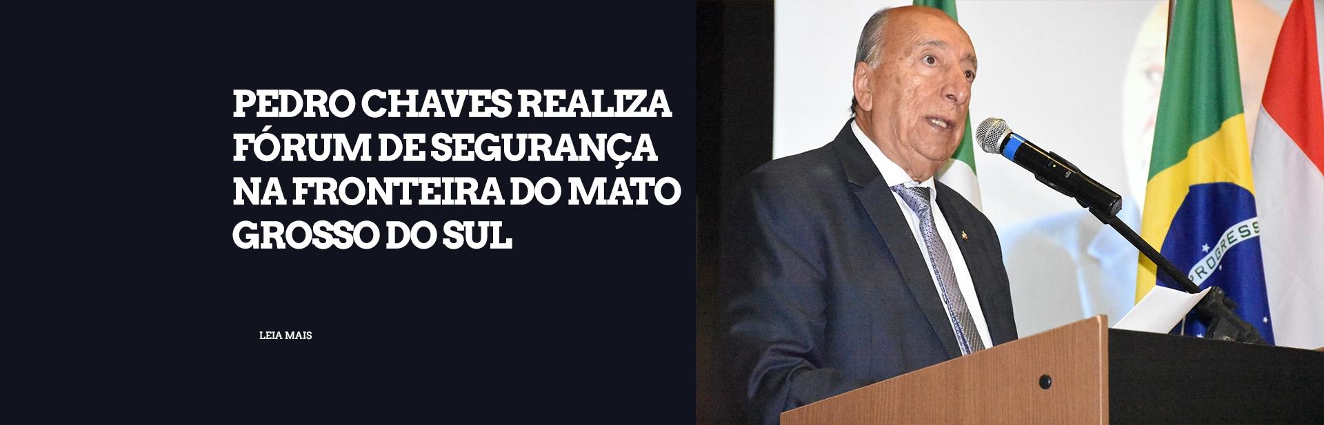 Pedro Chaves realiza Fórum de Segurança na Fronteira do MS