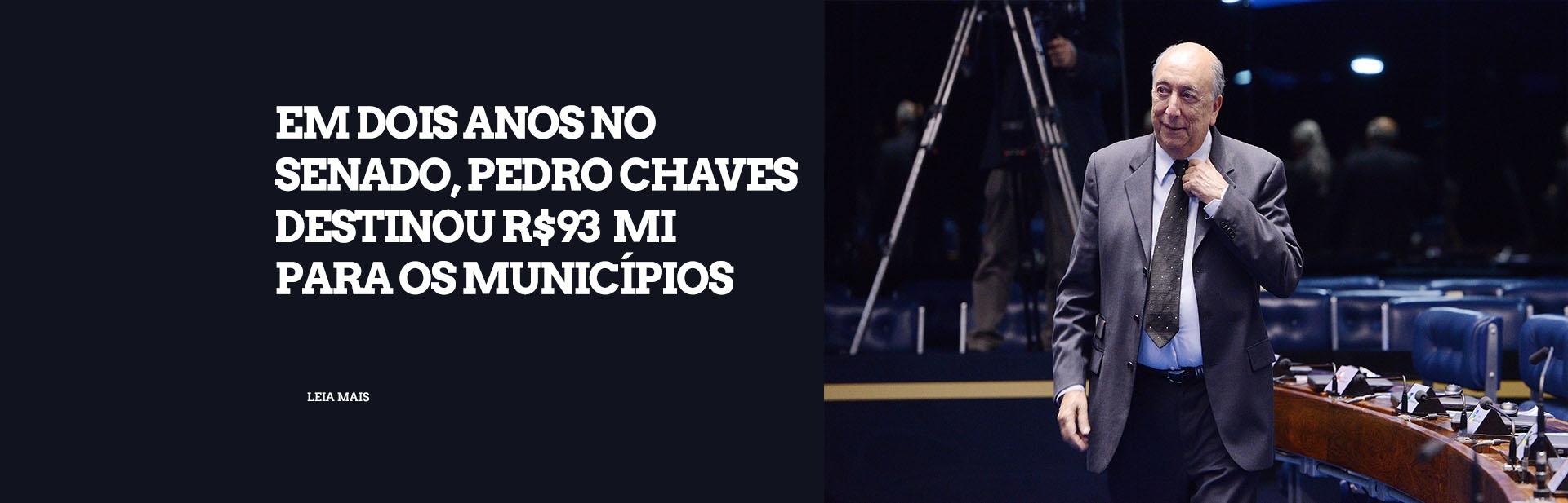 Em dois anos no Senado, Pedro Chaves destinou R$ 93 milhões para municípios de MS