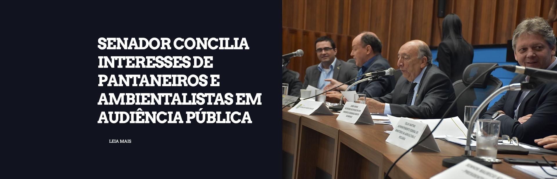 Audiência pública promovida por Pedro Chaves concilia interesses de pantaneiros e ambientalistas